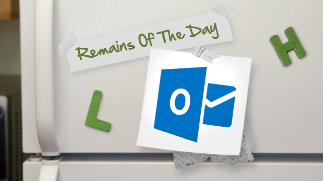 Click here to read Remains of the Day: Outlook.com's Security Will Rival Gmail