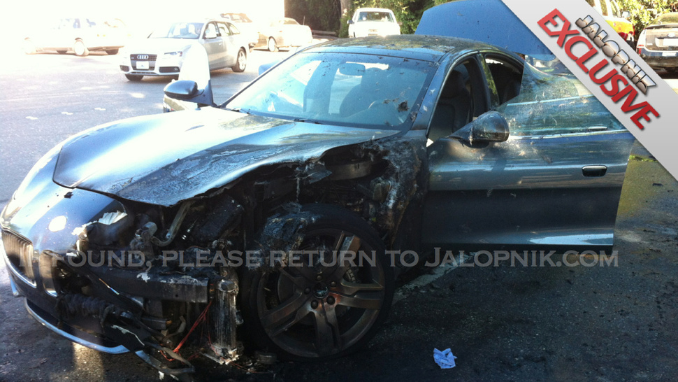 Exclusive: Fisker Karma Hybrid Sets Itself On Fire And Burns While Owner Gets Groceries