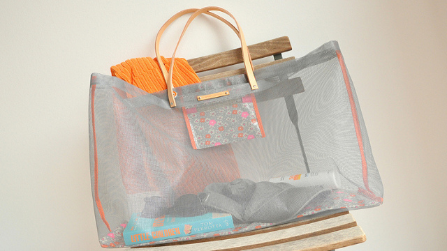 Click here to read DIY Beach Bag Made from Window Screen Material Doesn't Retain Sand