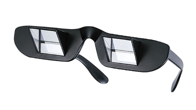 Click here to read Prism Glasses Let You Read While Lying Down at the Cost of Looking Like an Idiot