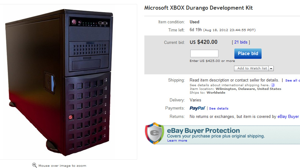 "Click here to read Someone's Trying to Sell an ""XBOX Durango Development Kit"" on eBay"