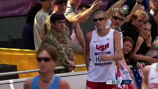 Ryan Hall Pulled Up Lame In The Men's Marathon