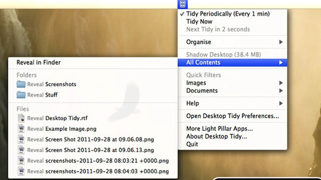 Click here to read Desktop Tidy Automatically Keeps Your Mac Desktop Clean and Organized