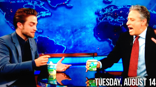 Robert Pattinson Eats Ice Cream on The Daily Show, Jokes About His Spanx