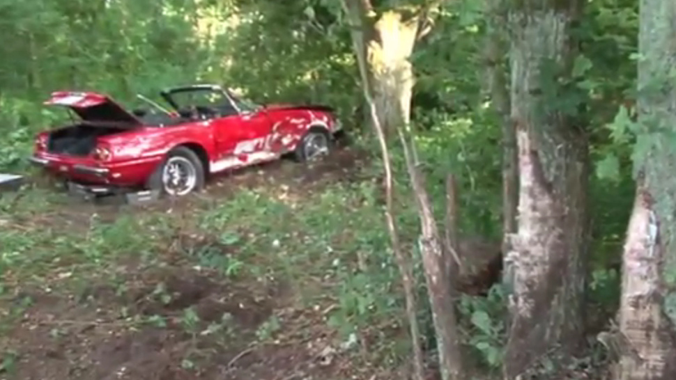 A Super Rare $600,000 Ferrari Was Crashed Into A German Tree