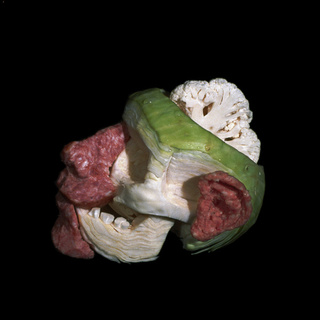 These anatomical food sculptures are gruesome and lunch-meaty