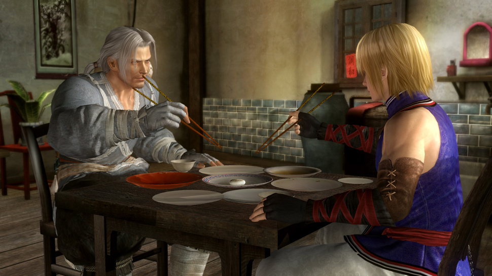 Witness <em>Dead or Alive 5</em>'s Latest Fighters Engaged in a Quaint Dinner to the Death