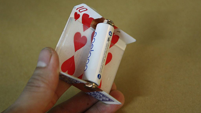 Click here to read Make a Solar-Powered Battery Charger Out of a Playing Card