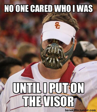 "Finally, Batman Meets USC With ""Bane Kiffin"""