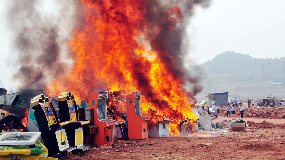 Click here to read Chinese Cops Burn Game Machines