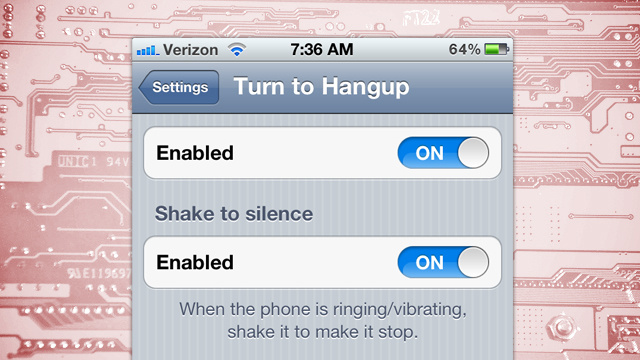 Turn to Hangup Rejects Incoming Calls When You Turn Your Phone Face Down