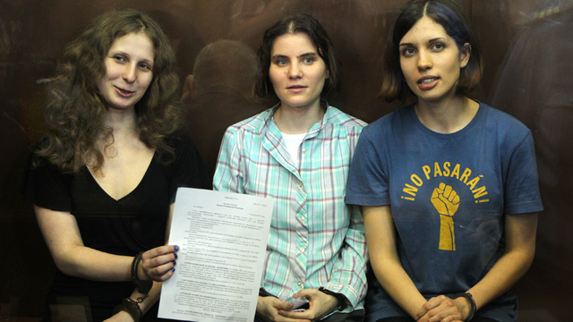 Pussy Riot Activists Sentenced to Two Years in Prison for Singing Stupid Song in Church