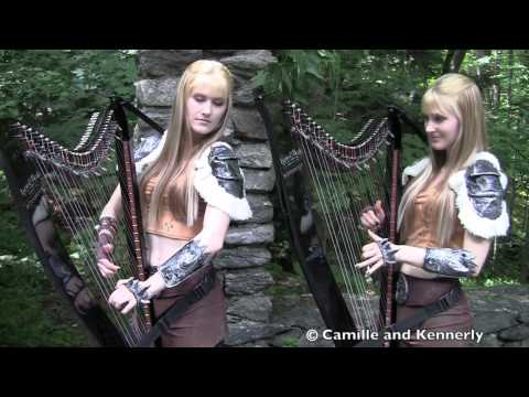 Click here to read Blonde Twins Playing The <em>Elder Scrolls</em> Theme On Harps While Standing In A Forest
