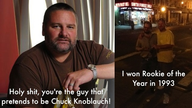 My Night With The Fake Chuck Knoblauch