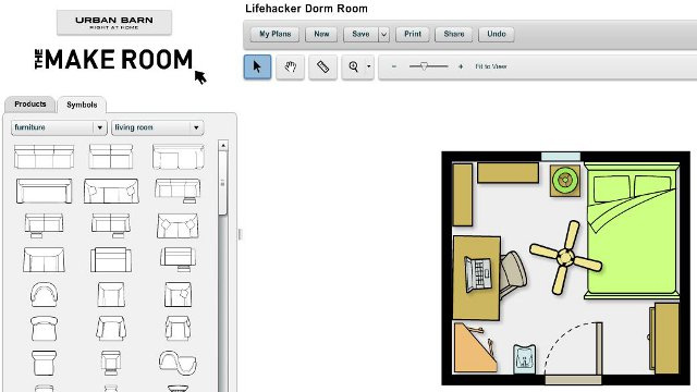 'The Make Room Planner' Webapp Simplifies Room Layout Design
