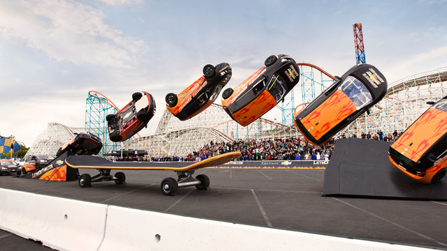 The Ten Craziest Stunts Pulled By Automakers
