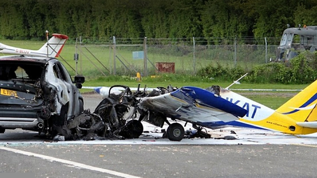 Plane Crashes Into Volvo, Volvo Wins