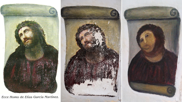 Here's What Happened When an Elderly Woman Took It Upon Herself to Restore a Painting in a Nearby Church