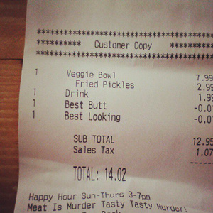medium Restaurant Gives Patron Two Cent Discount for Being the Best Looking and Having the Best Butt [Compliments Of The House]
