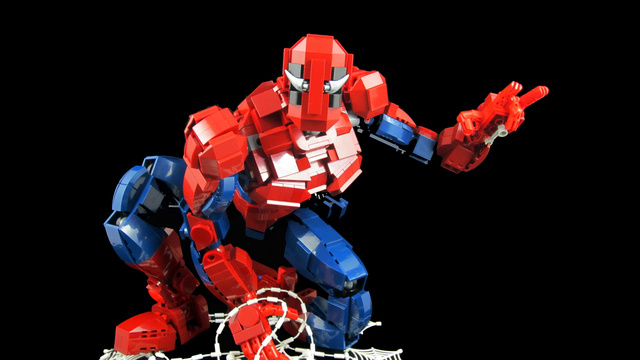 Lego Spiderman Action Figure Is Pretty Goddamn Bloody Awesome
