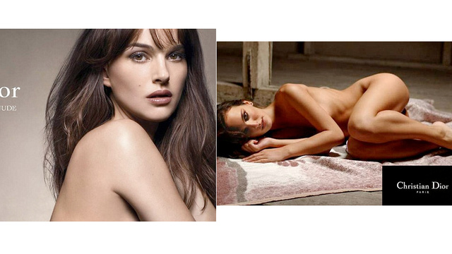 Here's a Real Nude Natalie Portman Dior Ad and Here's a Fake Nude Natalie ...