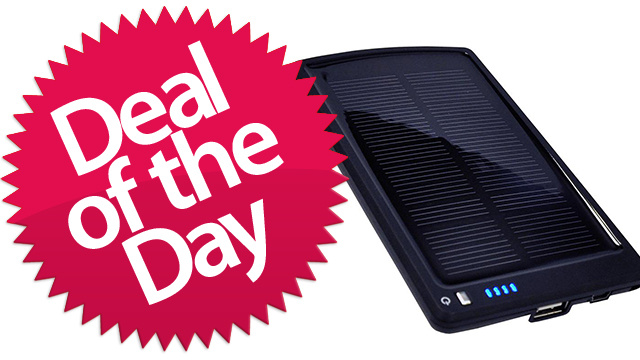 This Opteka Solar-Powered Battery Backup and Charger Is Your When-You-Go-Outside-For-Some-Reason Deal of the Day