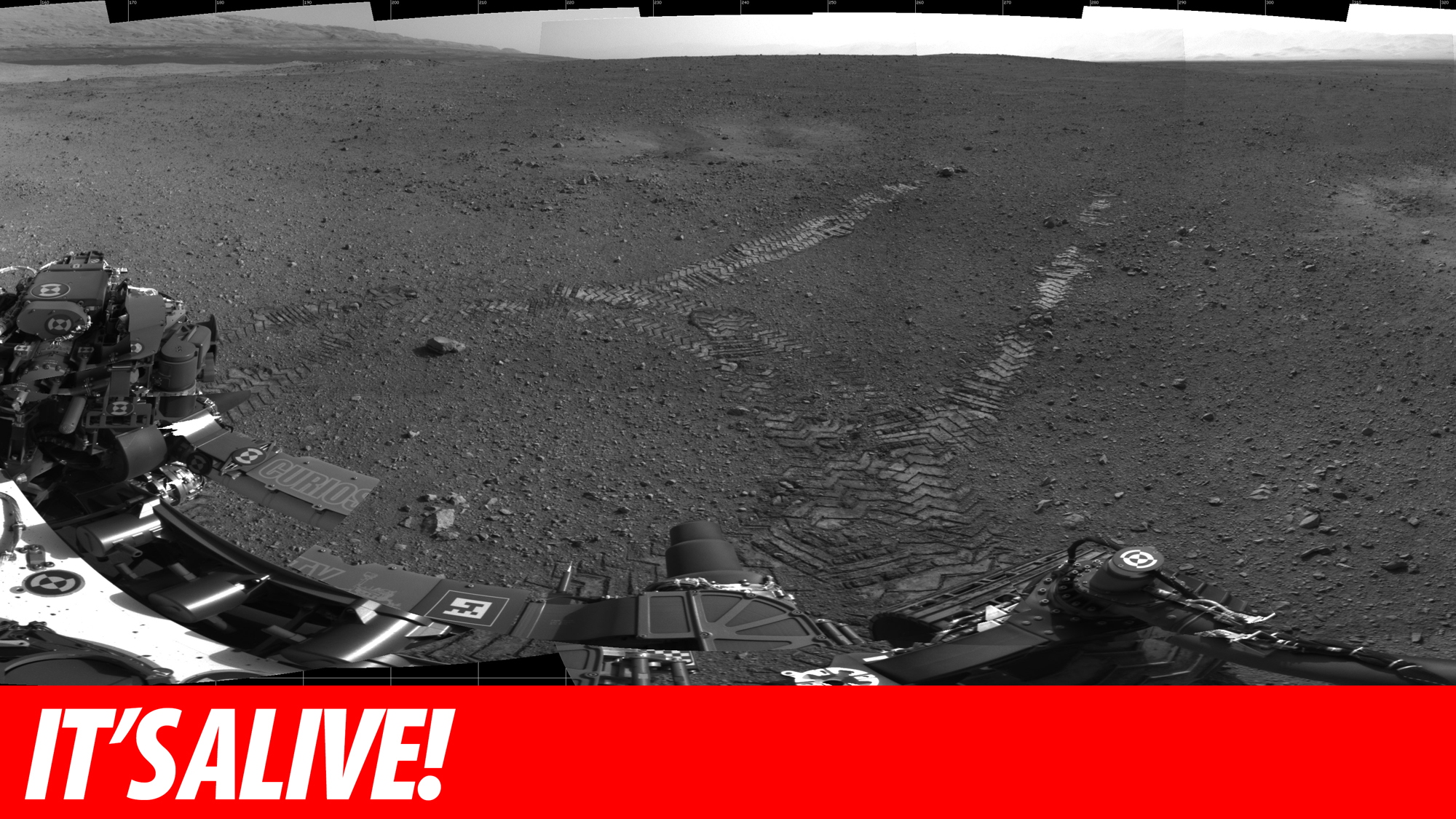 Click here to read Mars Curiosity Moves For the First Time
