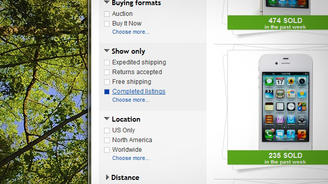 Search Ebay For 39 Completed Listings 39 To Know What Price To