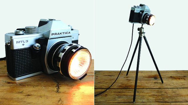 Click here to read Severe Cold War Cameras Make Funky Modern Lamps