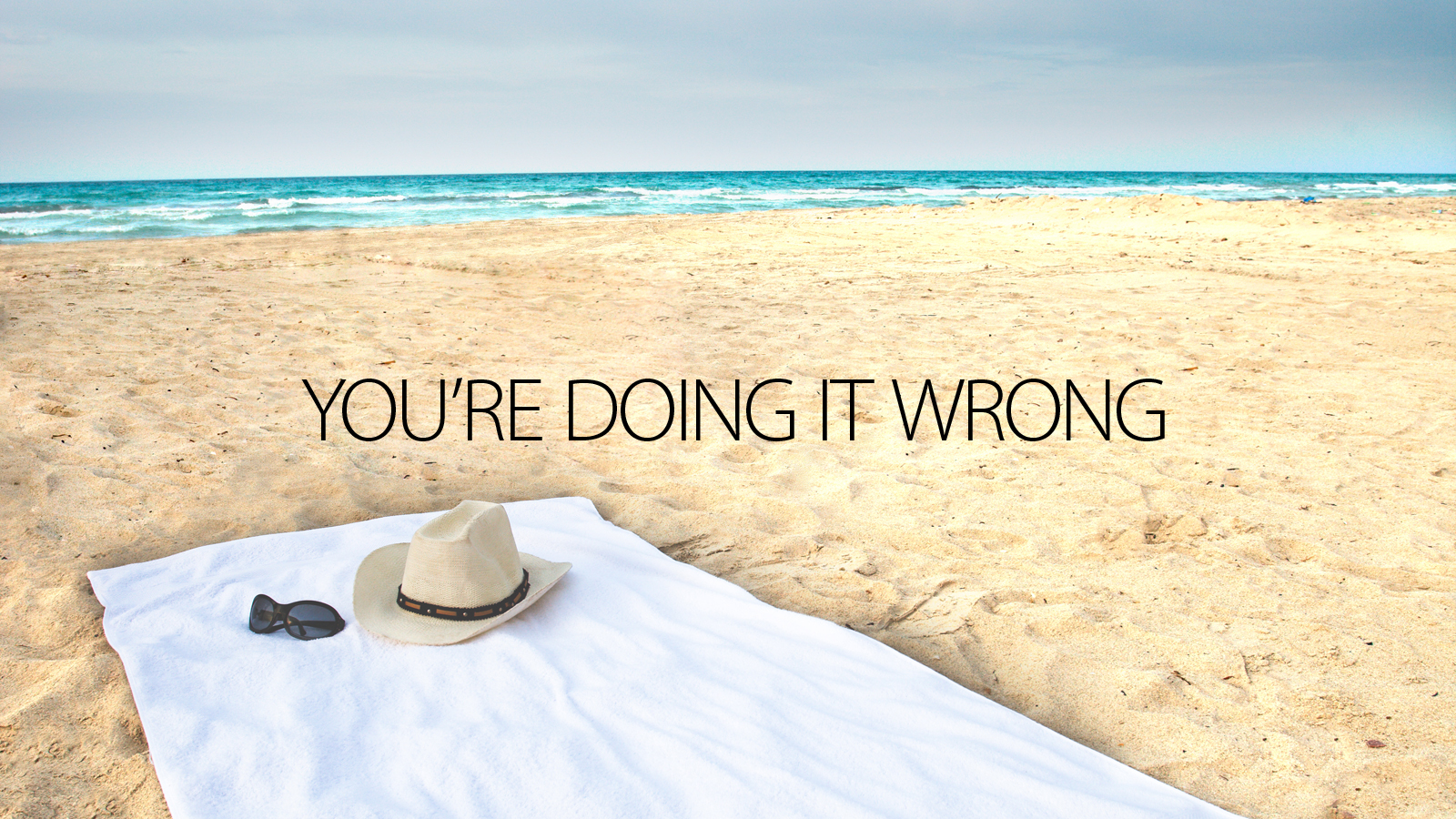 Click here to read There Is a Right and a Wrong Way to Use a Beach Towel