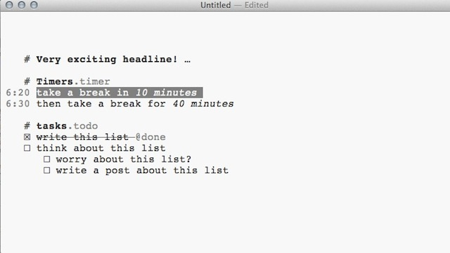 FoldingText Is a Plain Text Editor for Mac with Hidden Features