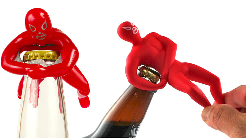 Luchador bottle openers wrestle caps into submission gizmodo australia - Wrestler bottle opener ...