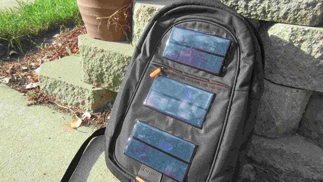 DIY Solar Panel Backpack Charges Your Gadgets as You Walk