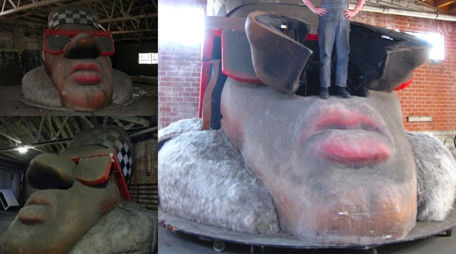 Who wants to live inside a rapper's giant abandoned head?