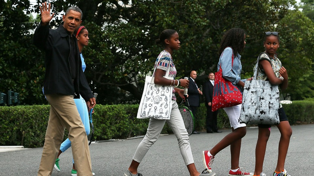 Camp David Slumber Party Underway For Obamas