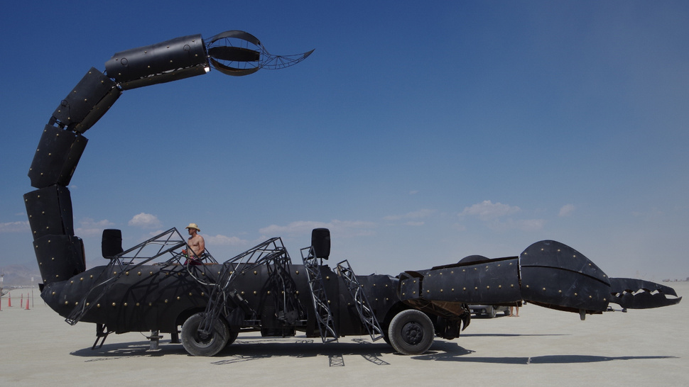 The 3,000-Pound Fire-Breathing Robot Scorpion Roving the Nevada Desert
