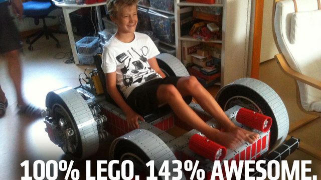 Huge Drivable Lego Go-Kart Ups Pushes Global Awesome Index To New Highs
