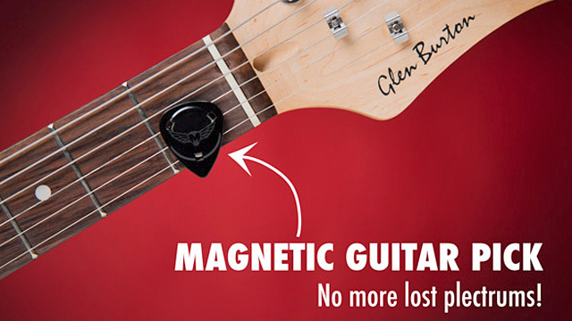 Magnetic Guitar Picks Eliminate Free Rock Concert Souvenirs