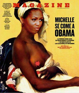 Spanish Magazine's Depiction of Michelle Obama as a Semi-Nude 'Negress Slave' Upsets Some People