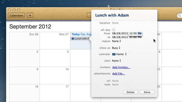 iCal Automatically Knows What Time Breakfast, Lunch, and Dinner Are