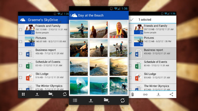 SkyDrive Brings Its Cloud Storage Service to Android