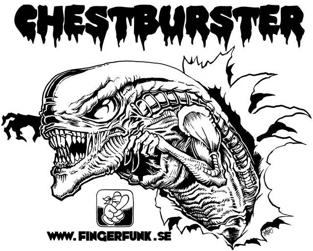Augmented reality chestburster t-shirt pops a xenomorph out of your torso