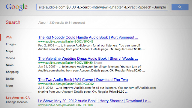 Score Free Audiobooks from Audible with a Simple Google Search
