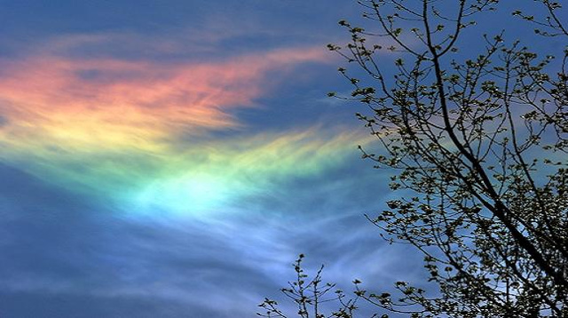 The physics of fire rainbows