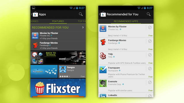 "Google Play's New ""Recommended"" Section Finds Apps You'll Like"