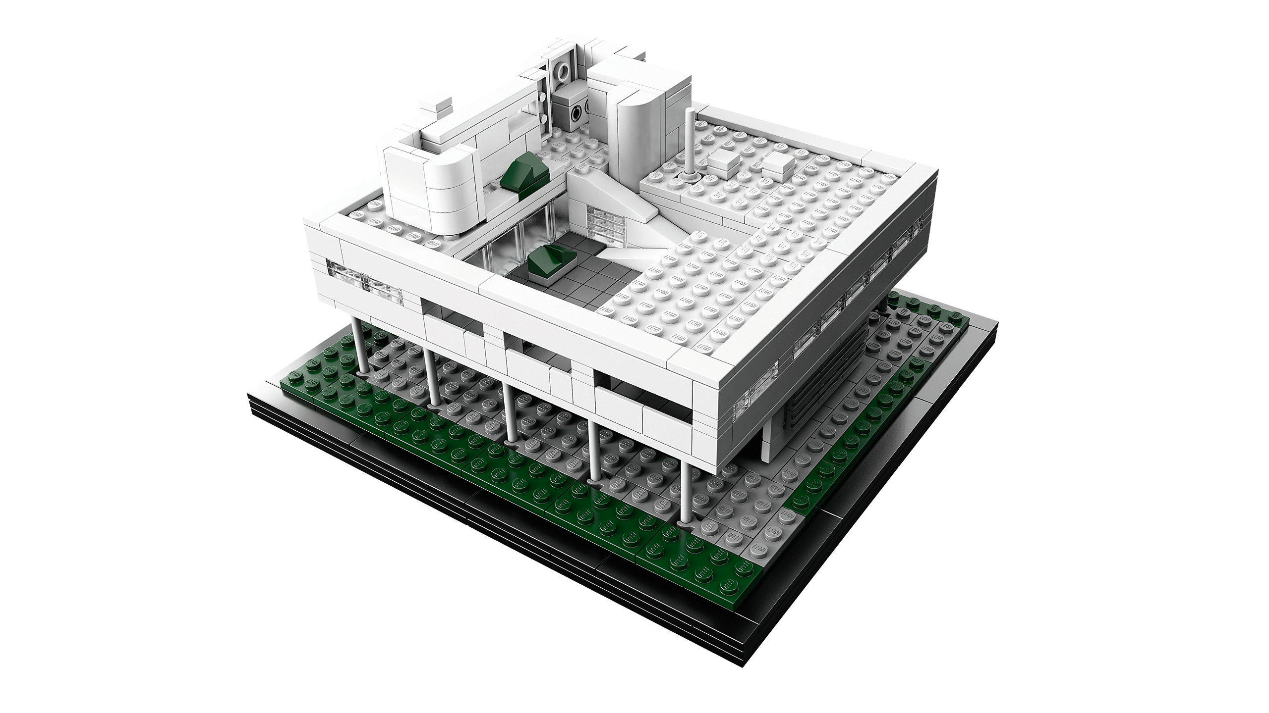 New villa savoye set is a beautiful addition to the lego for Architecture lego