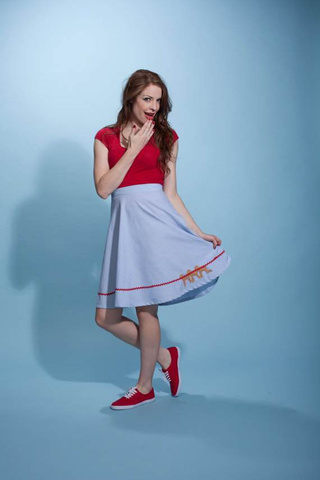 This Evil Dead dress is nice enough to wear on a date (assuming your date likes chainsaws)