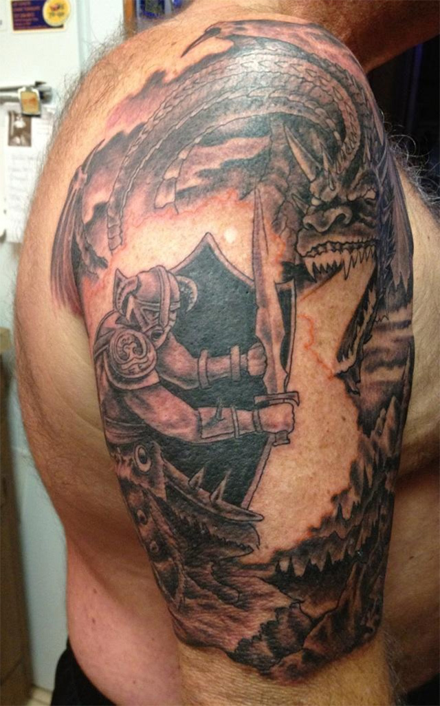 Skyrim Tattoo Turns Reader's Boss Into RPG Hero