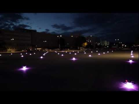 Click here to read Watching 49 Quadrocopters Fly and Swarm Across the Night Sky Is Pretty Freaky