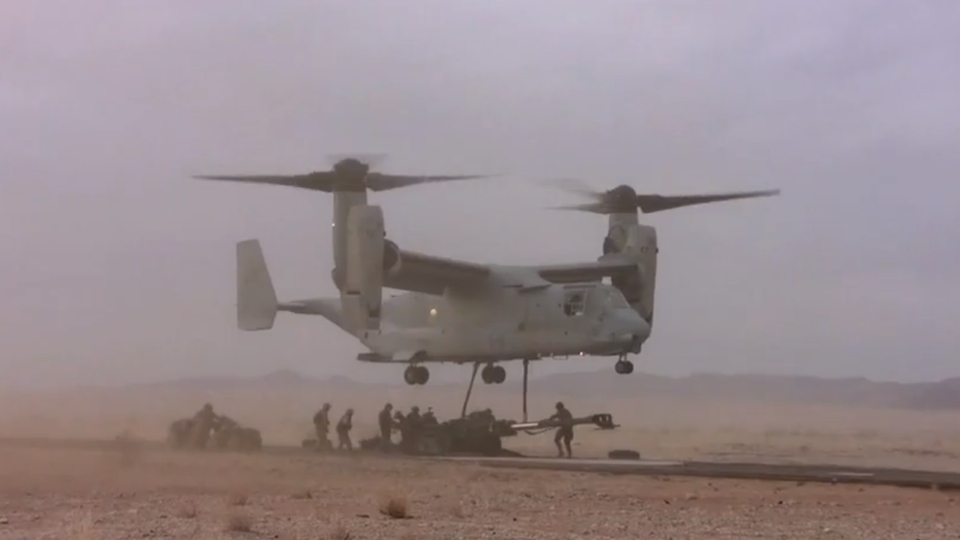Click here to read The V-22 Osprey's New Belly Gun Rotates 360 Degrees To Fire 3,000 Rounds a Minute